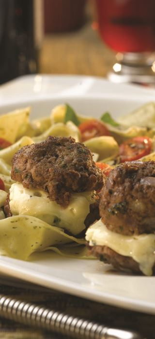 Meatballs with Blue Cheese Centres