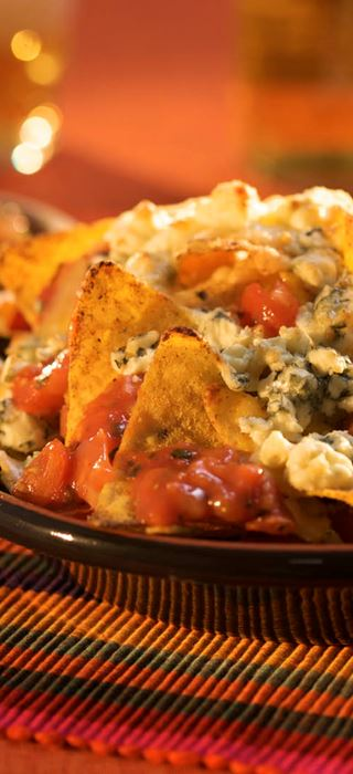 Nachos with Blue and Salsa