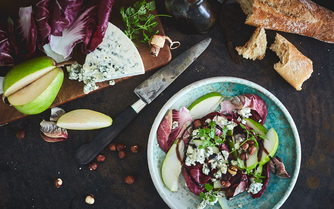 Radicchio with pears and Blue cheese