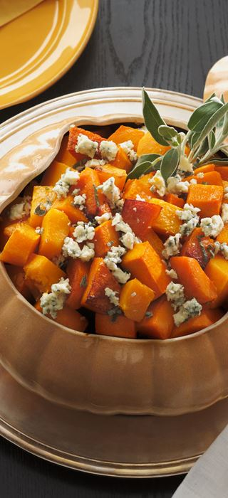 Roasted Butternut Squash with Sage and Castello® Blue Cheese