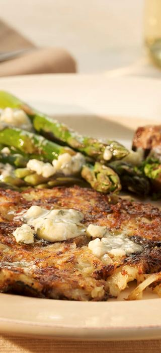 Rosti with Onion and Blue Cheese