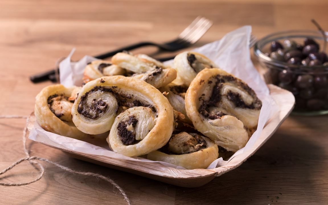 Savory Palmiers with Olive Tapenade