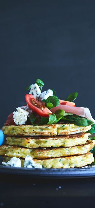 Savory Pancakes with Mature Cheddar