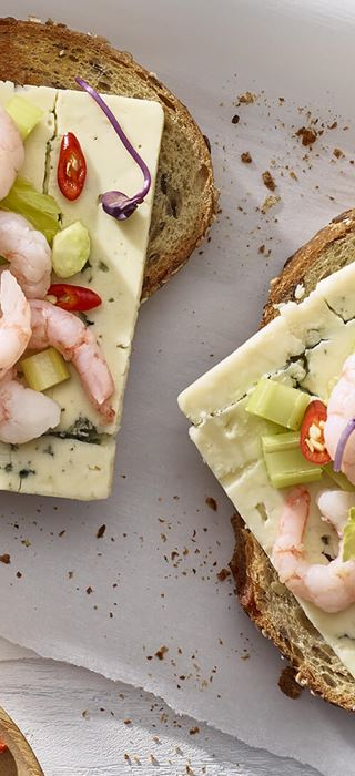 Shrimp, Lime, and Chili Open Faced Sandwich
