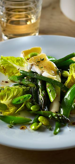 Summer Vegetables with Double Crème White