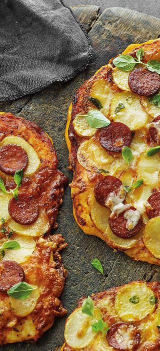 Knusprige Kartoffelpizzen