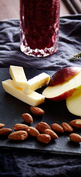 Æbler med lemon curd og Aged Havarti