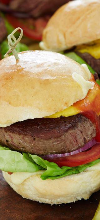 Dobbelt cheese steak-burger