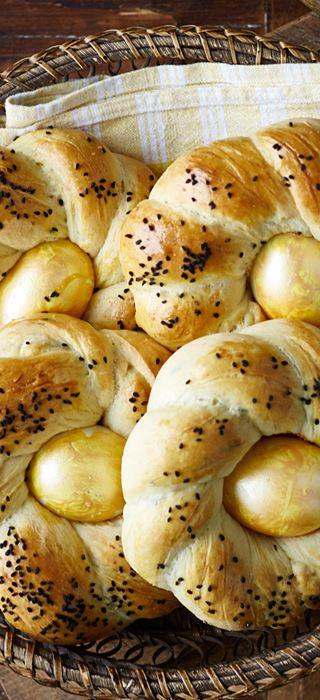 Påskebrød med cheddar og oregano