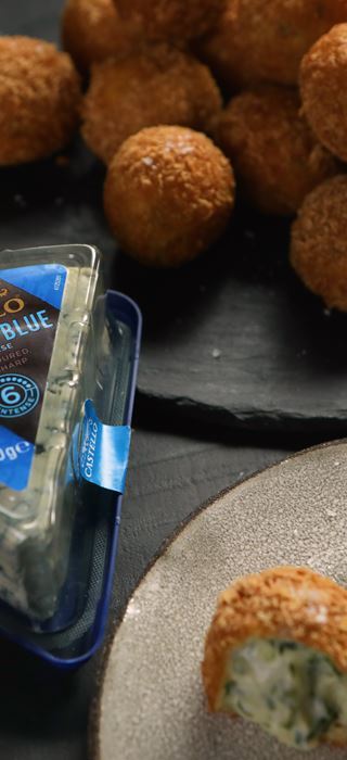 BLUE CHEESE AND MUSTARD CROQUETTES