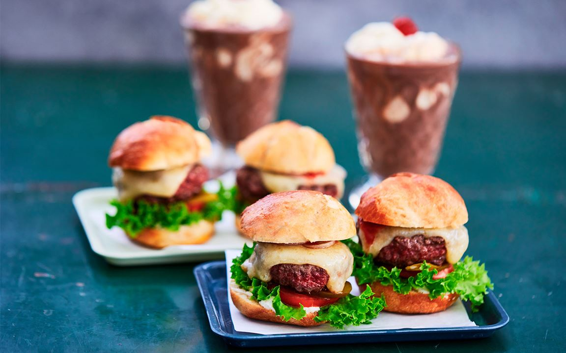Cheddar cheese sliders