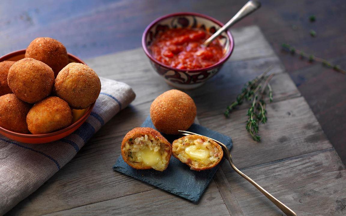Creamy Havarti risotto balls