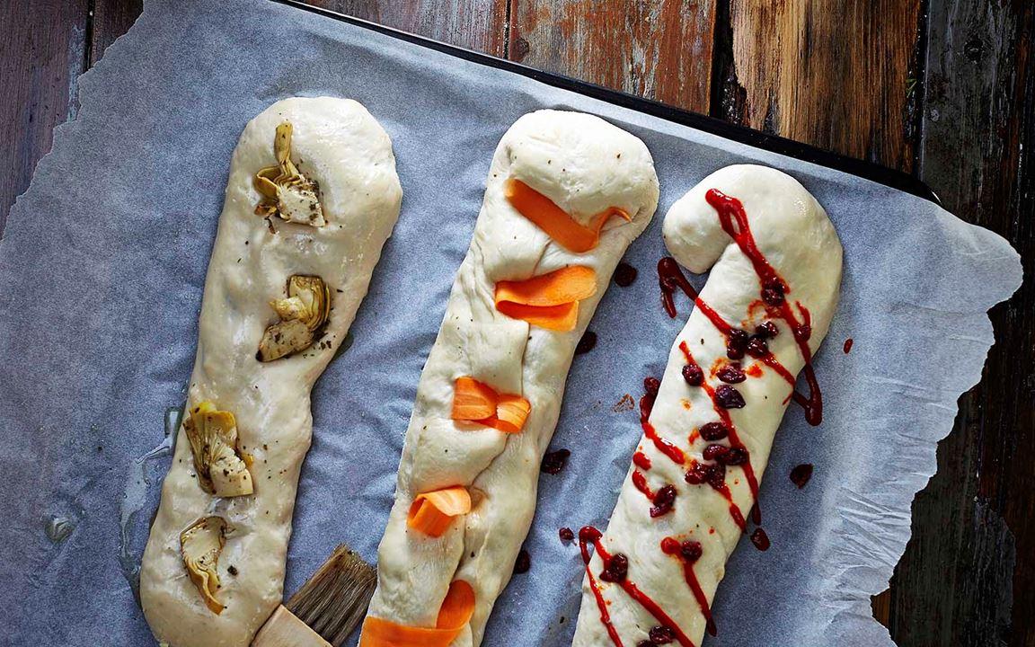 Italian stecca bread with garlic and Aged Havarti
