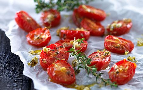 Semi-dried cherry tomatoes