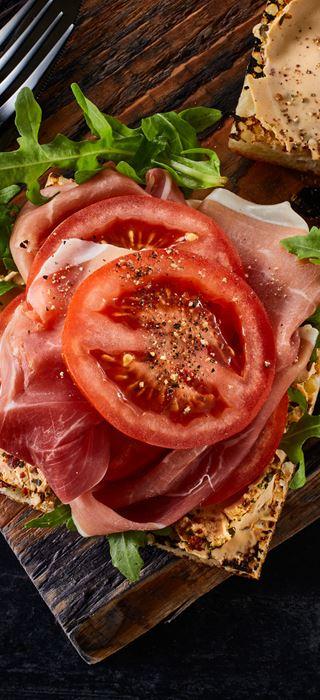 Serrano ham & cream cheese sandwich