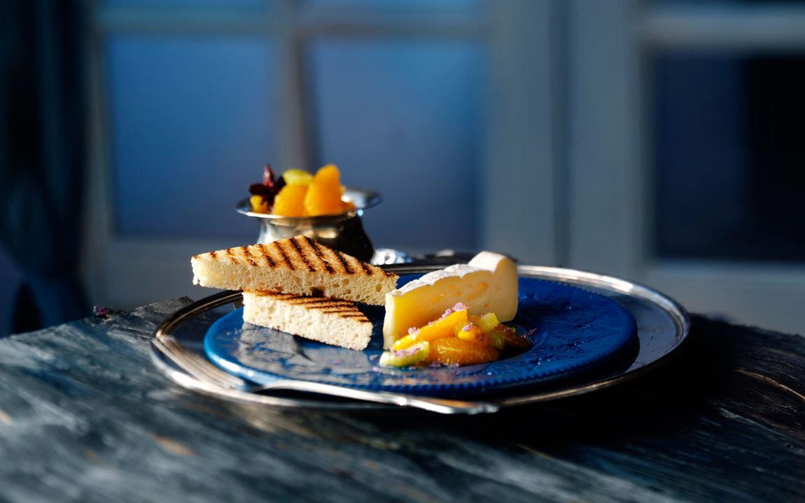 Appelsinkompott med stjerneanis til ost