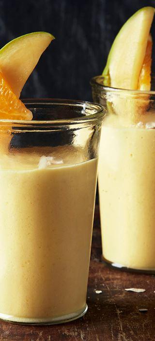 Mango- og appelsinsmoothie