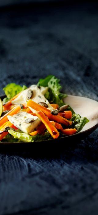 Marinerte gulrøtter med gresskarfrø