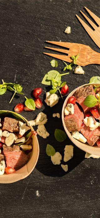 Salat med grillet entrecote