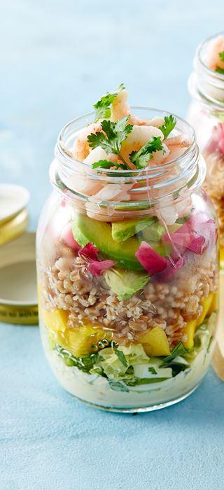 Sprø og frisk rekesalat