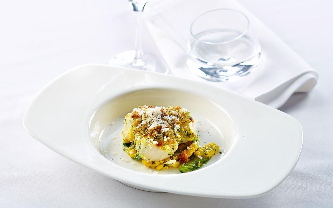 Cheesy scallops gratinee