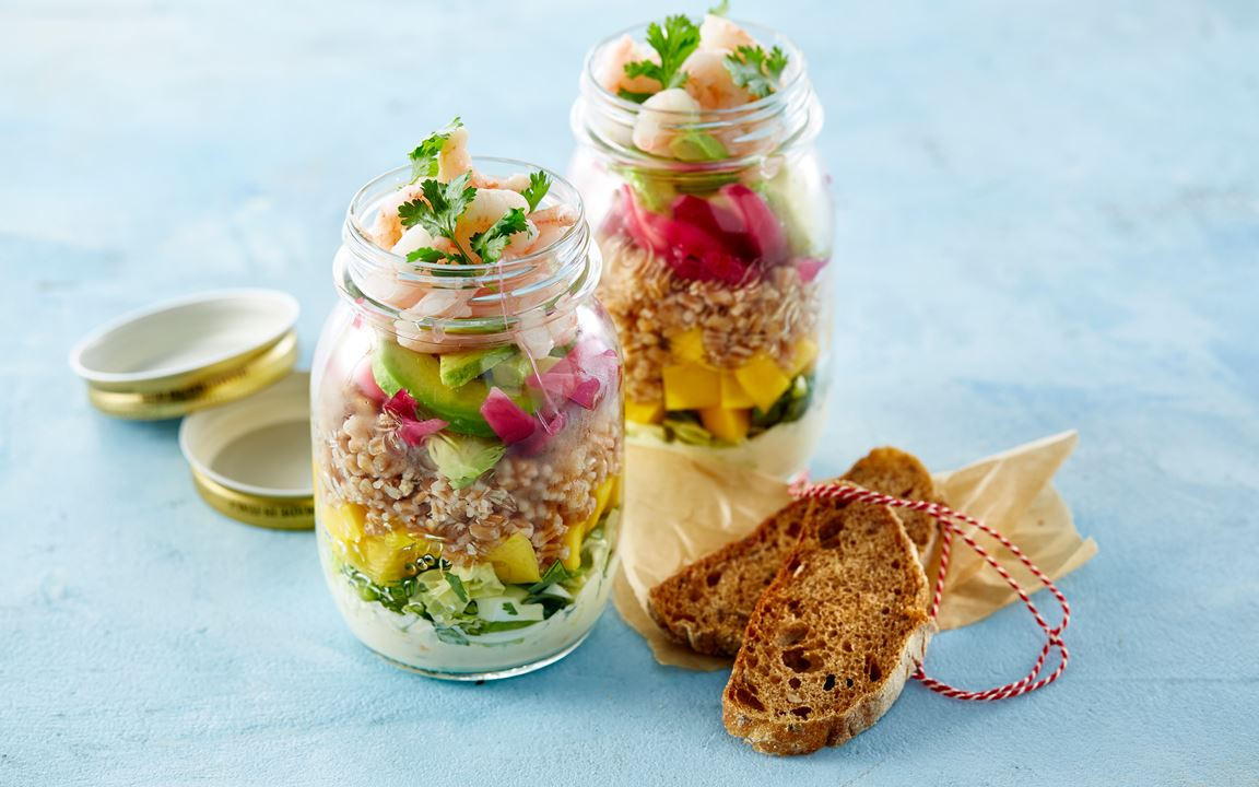 Crisp and fresh prawn salad