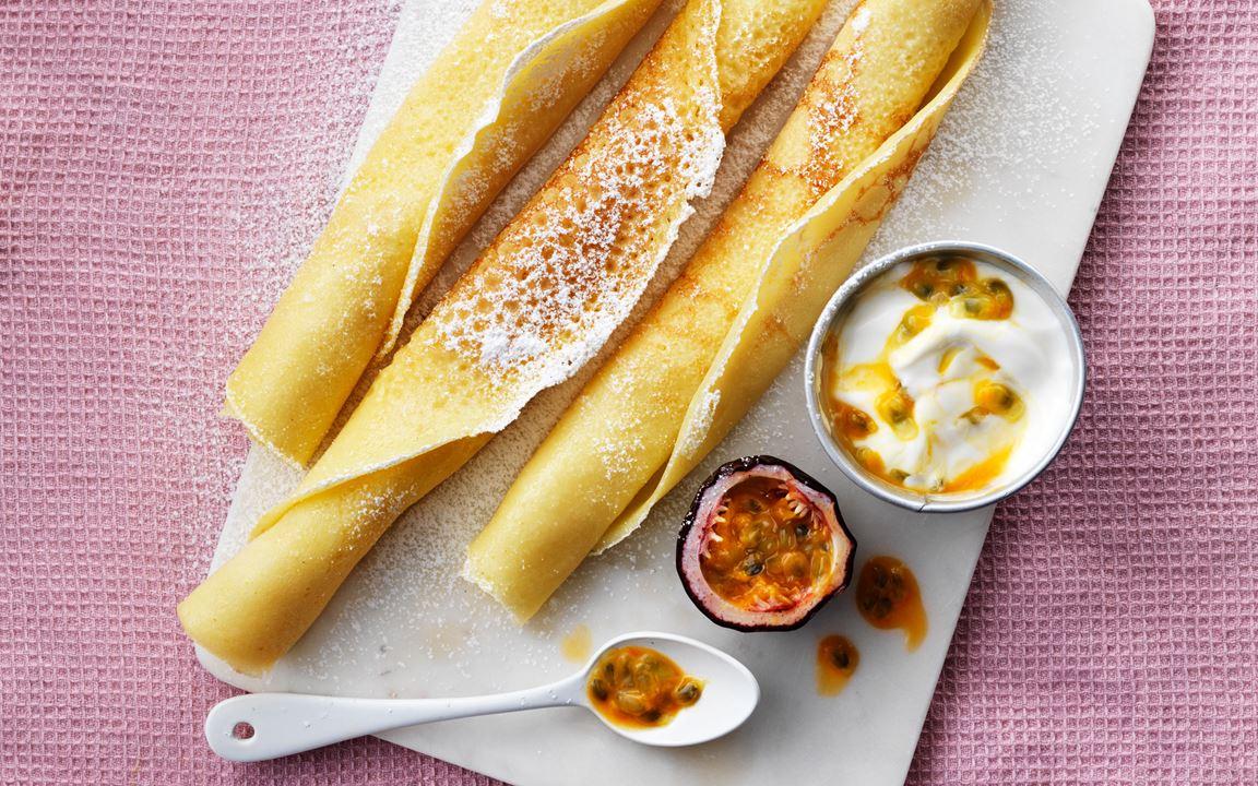 Pancakes with maize, rice and potato flour