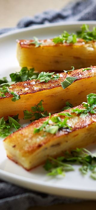 Pommes Anna with Castello Creamy Blue Cheese