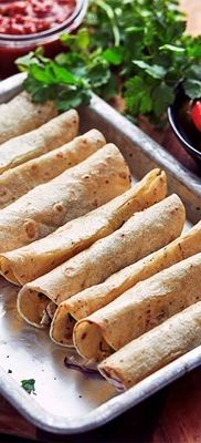 Taquitos with cheddar & salsa