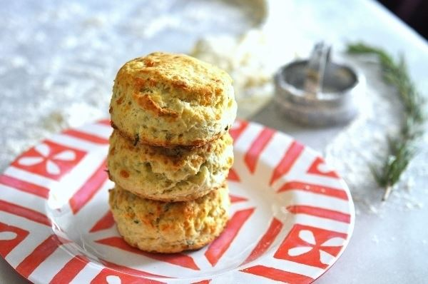 Blue Cheese and rosemary biscuits