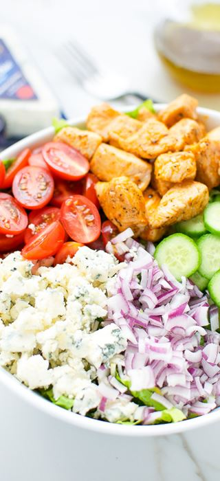 Buffalo chicken and Blue Cheese salad