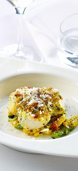 Cheesy scallops au gratin