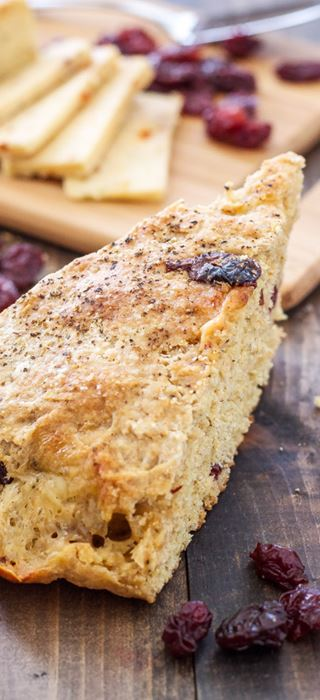 Havarti and dried cherry skillet scones