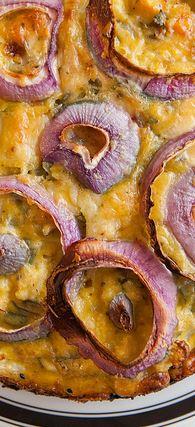 Jalapeno Havarti Cheese & cauliflower crustless quiche