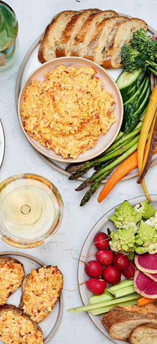 Late summer pimento cheese dip