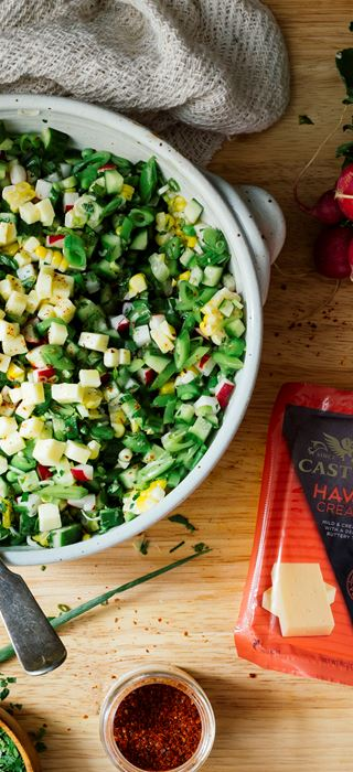Summer Chopped Salad with Creamy Havarti
