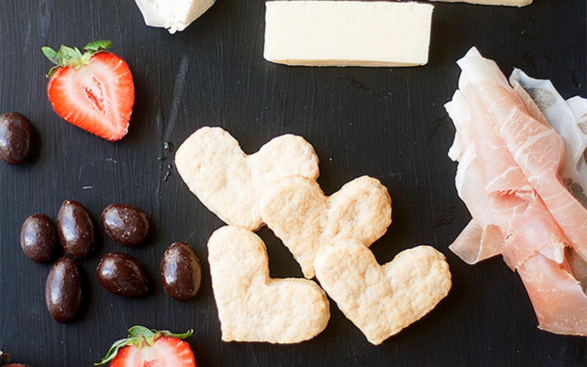 Sweetheart cheese board