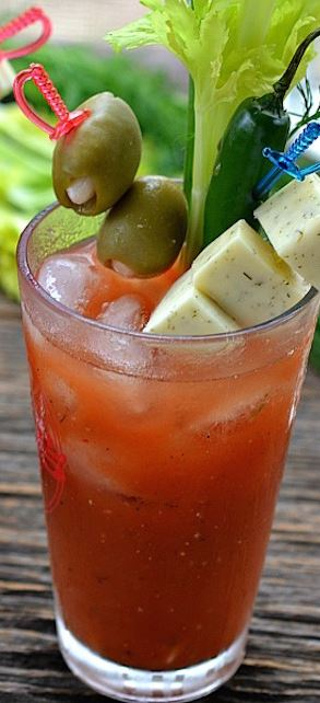 Ultimate bloody mary with Dill Havarti infused vodka