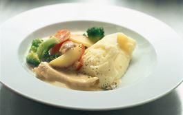 Kyckling i sås med franska smaker blir en fullträff.
