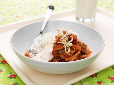 Moderna smaker med asiatisk touch. En ny köttfärssås med ris istället för spagetti.