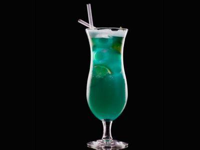 En härligt blå drink.