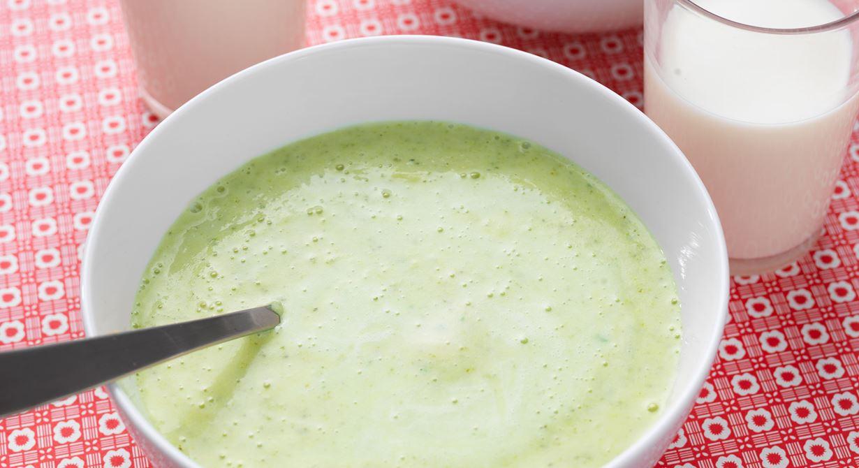 Otroligt enkel och god soppa som mixas slät. Populär hos skolbarn i alla åldrar.  Specialkost: Glutenfri, går att göra laktosfri genom att byta till laktosfria produkter.