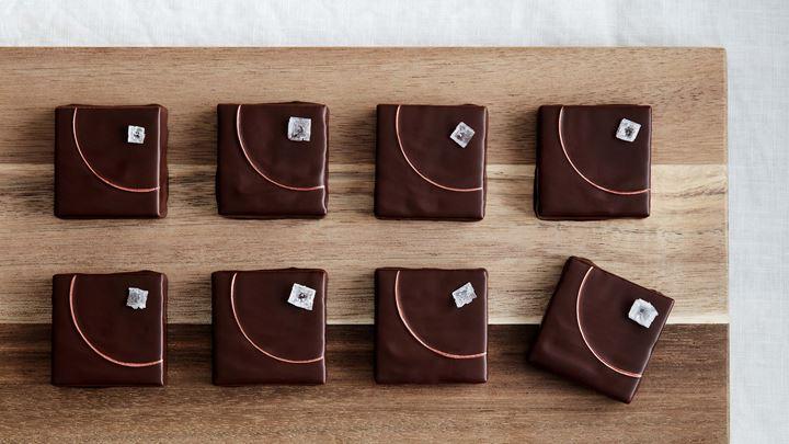 Choklad- och lakritsfudge med flingsalt