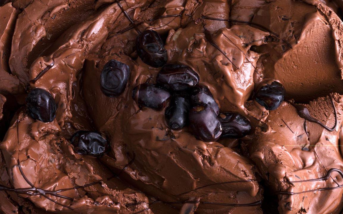 Chokladgelato med dadlar