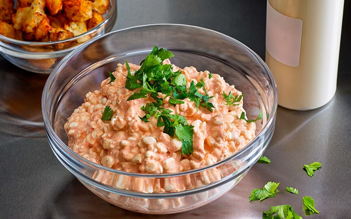 Gott, enkelt och mättande proteintillbehör med asiatiska smaker.