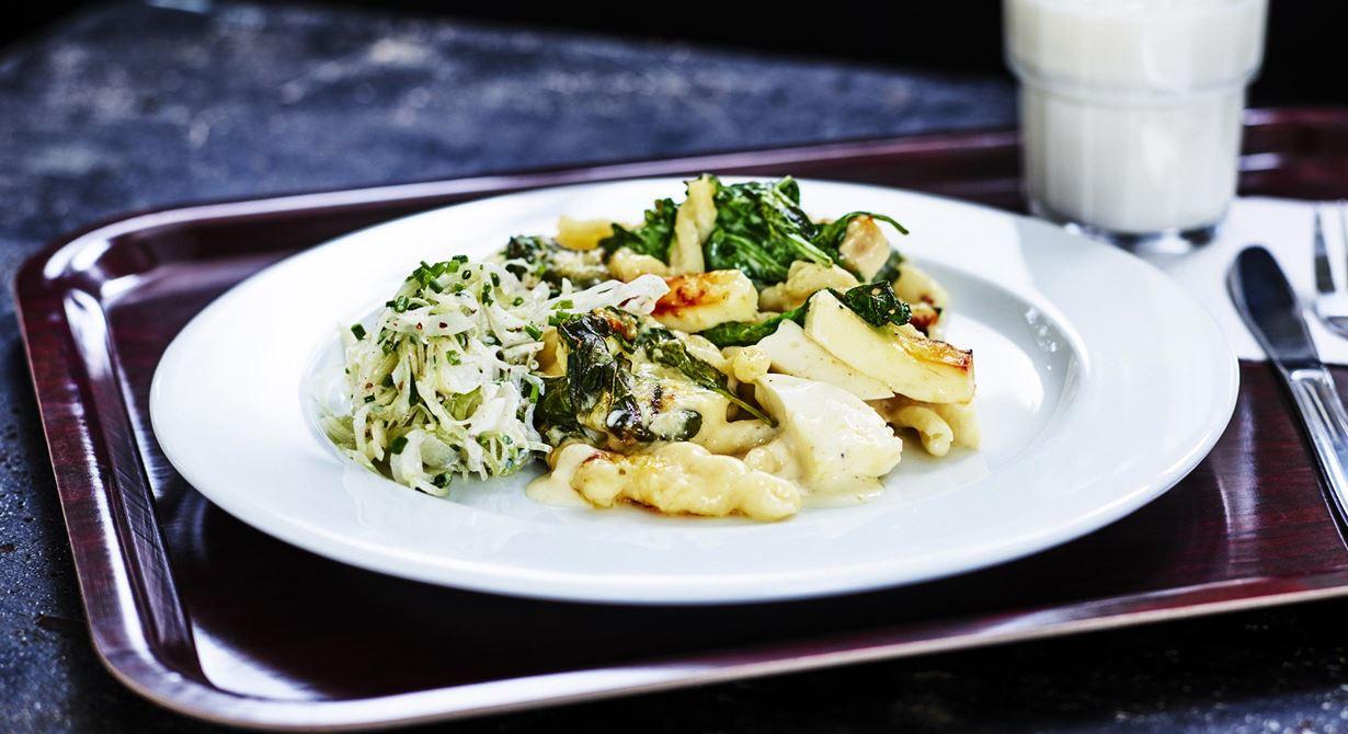 Comfort food när den är som bäst. Maxa din mac and cheese med Grilling cheese och servera som tillbehör eller hel rätt.