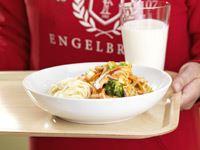 Enklaste woken med krispiga grönsaker och kyckling. Uppskattad av alla.