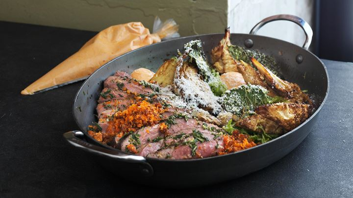 Lamm - savoykål - chorizo - ost