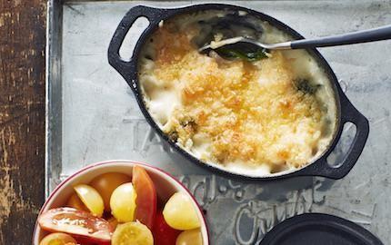 Mac 'n' cheese - makaroner i ostsås - är en klassisk amerikansk favoriträtt. Här ligger de krämiga makaronerna under ett frasigt, smakrikt cheddartäcke. Laga i en ugnsform eller servera i trevliga portionsformar.