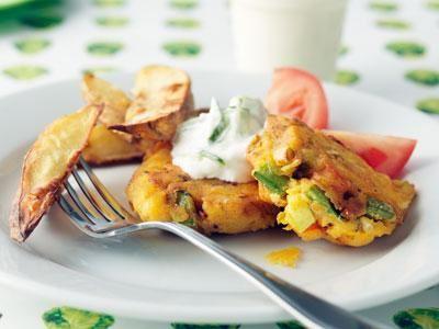 En vegetarisk variant på vår grekiska färspanna. Kryddorna är desamma, men i biffarna har vi wokgrönsaker i färsen.